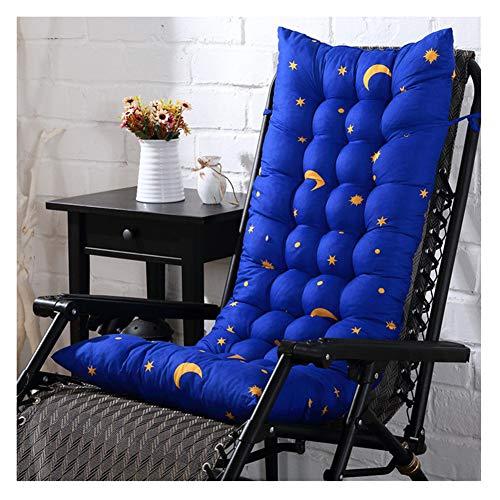 HotYou Coussin de Chaise Inclinable, Matelas Coussin pour Chaise, Coussin Mat Coussin Chaise Fauteuil de Relax de Jardin Terrasse,Blue Starmoon,40 * 110 CM