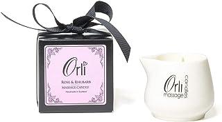 Orli Massage Kaars Keramiek met Gift Box - Rose & Rabarber