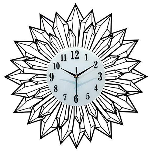 Reloj de Cuarzo de Pared Hierro de la manera decorativo reloj de pared del hogar del reloj del reloj de la sala silenciosa pared reloj grande del cuarzo del reloj de 23,6 pulgadas Decorar La Oficina o