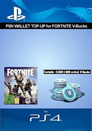 PSN credit for Fortnite - 2.500 V-Bucks + 300 extra V-Bucks - 2.800 V-Bucks DLC | PS4 Download Code - UK Account