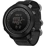 HBRT Altímetro, barómetro, de múltiples Funciones del Alpinismo Impermeable Reloj, brújula termómetro para Running Natación Ciclismo