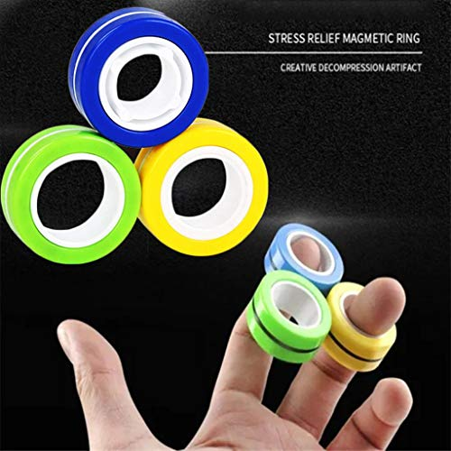 Clothful Magnetic Bracelet Ring Unzip Toy Magic Ring Props Tools Decompression Toys Education