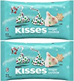 HERSHEY'S KISSES Holiday Sugar Cookie Flavored White Creme Candy pack of 2