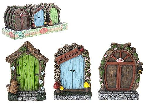 PMS International 1 placa decorativa para puerta de jardín de hadas de 15 cm, 1 seleccionado...