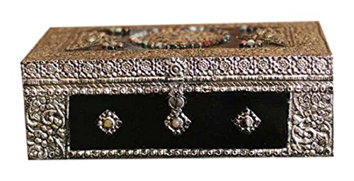 NOVICA Hand Made Repousse Brass Jewelry Box, Metallic
