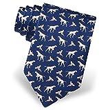 Alynn Herren Krawatte Fasan, 100% Seide, Hundemotiv - Blau - Einheitsgröße