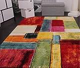 Teppich Modern Splash Designer Teppich Bunt Karo Model Neu OVP, Grösse:80x150 cm - 3