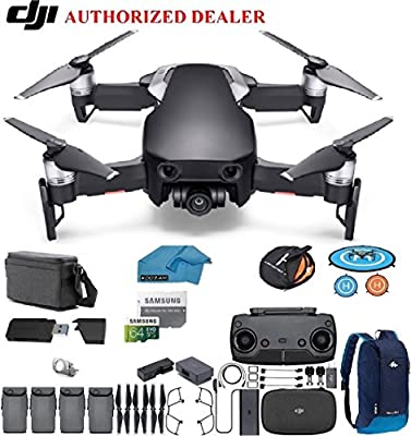 DJI Mavic Air Fly More Combo Drone - Quadcopter with 64gb SD Card - 4K Professional Camera Gimbal – 4 Battery Bundle - Kit - with Must Have Accessories