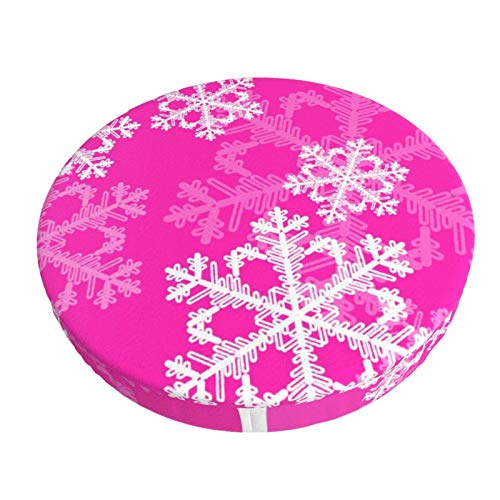 Cute Pink and White Christmas Snowflakes Christmas Hat,Santa Hat,Xmas Holiday Hat for Adults Classic Fur for Christmas New Year Festive Holiday Party Supplies 2 Pack