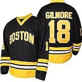 QCBW Mens 18 Happy Gilmore Sanders Stitched Movie Hockey Jersey S-XXXL (Black, X-Large)