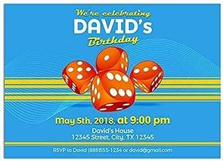 Yahtzee Birthday Party Invitations
