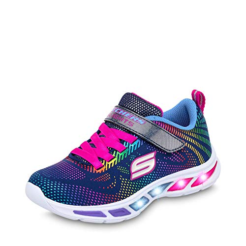 Skechers Girls' Litebeams-Gleam N'DREAM Trainers, Blue (Navy/Multi Nvmt), 11.5 (29 EU)