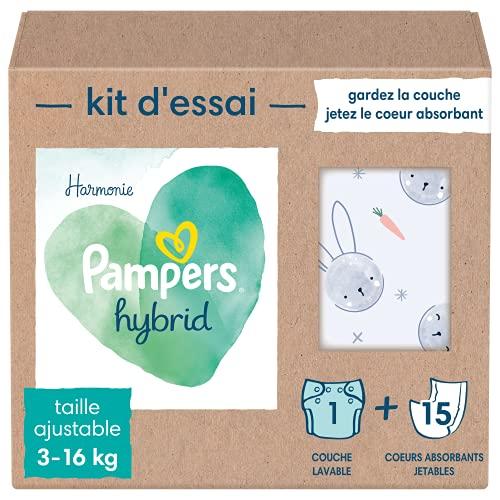 Pampers Harmonie Hybrid Kit de Prueba Pañales Lavables para Bebé