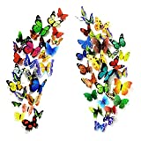 PARLAIM 104PCS Butterfly Wall Decals for Wall-3D Butterflies Wall Stickers Butterfly Decor...