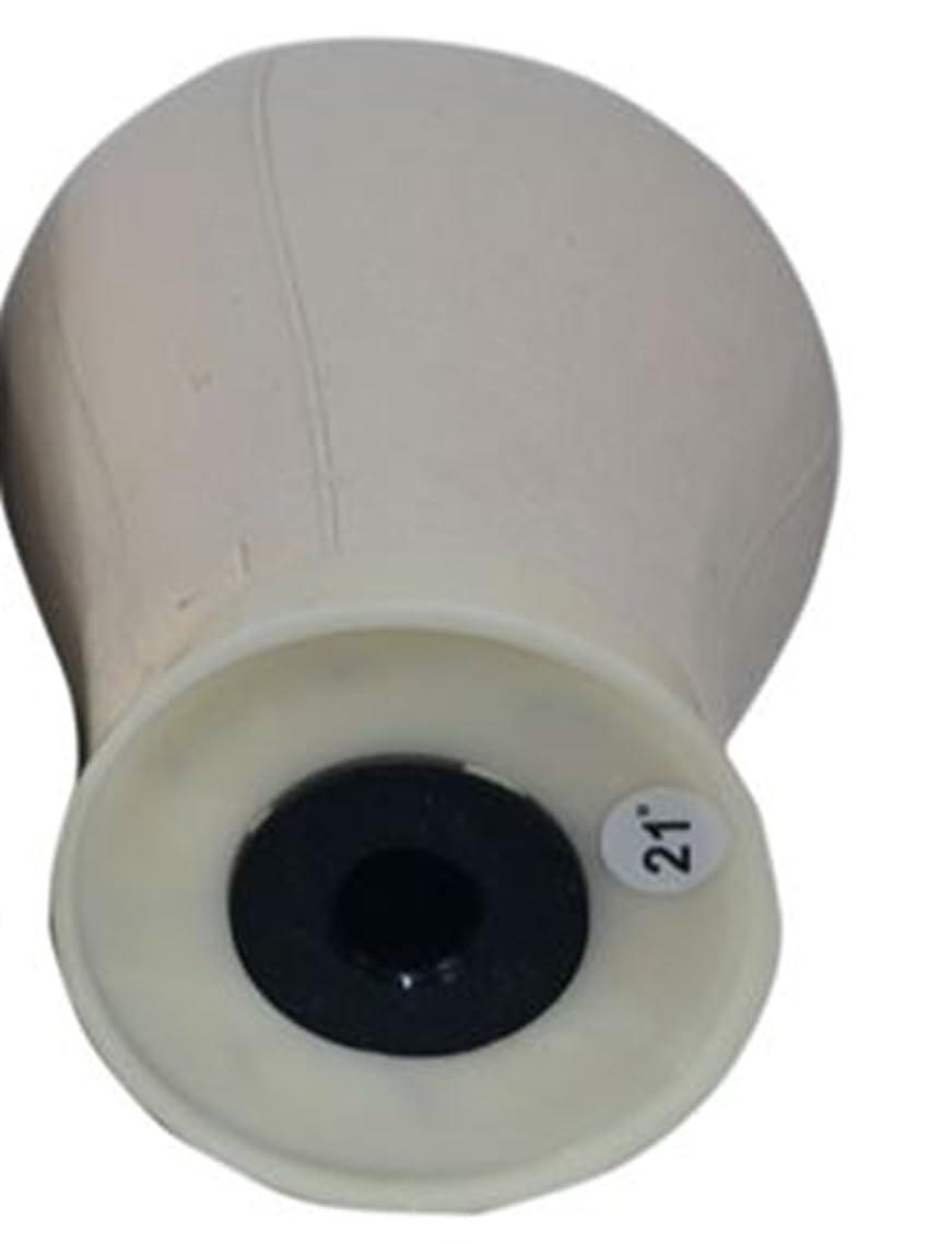 にんじん沈黙パラシュートニードルの練習およびプラスチック形のための満たされたキャンバスの頭部のかつらの頭部はヘッド型 を偽造します モデリングツール (サイズ : 21)