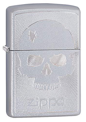 Zippo Skull Engrave, Accendino Unisex Adulto, Cromato, Regular