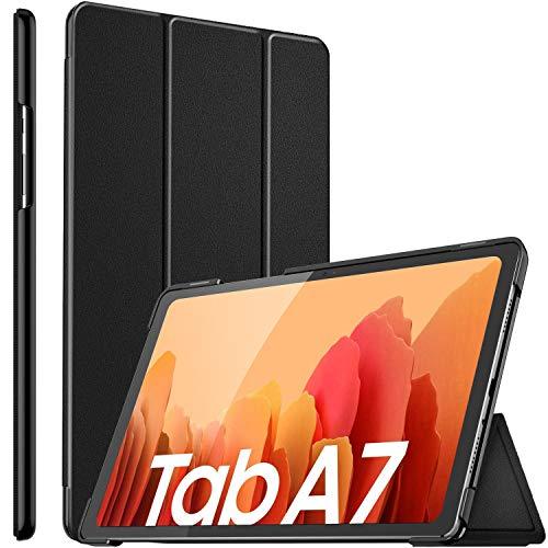 ELTD Custodia Cover per Samsung Galaxy Tab A 10.4 2020, Pelle con Funzione di Stand Flip Copertina Smart Case Cover per Samsung Galaxy Tab A7 10.4 Pollice, Nero