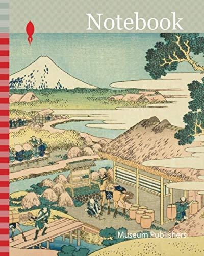 Notebook: The Tea Plantation of Katakura in Suruga Province (Sunshu Katakura chaen no Fuji), from the series Thirty-six Views of Mount Fuji (Fugaku ... 1760-1849, Japan, Color woodblock print