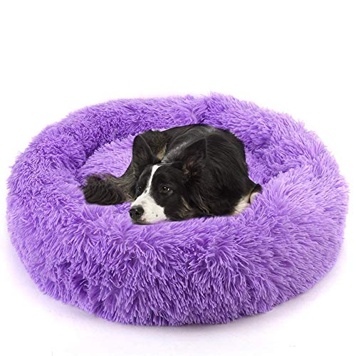 Haustierbett aus Plüsch, weich, Donut, Kuschelbett, Katze, Nisthöhle, Donut-Kissen, warme Hundehütte, Haustier-Matten für Katzen und kleine mittelgroße Hunde