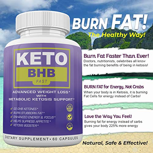Keto BHB Fast - Advanced Weight Loss with Metabolic Ketosis Support - 180 Capsules - 90 Day Supply 7