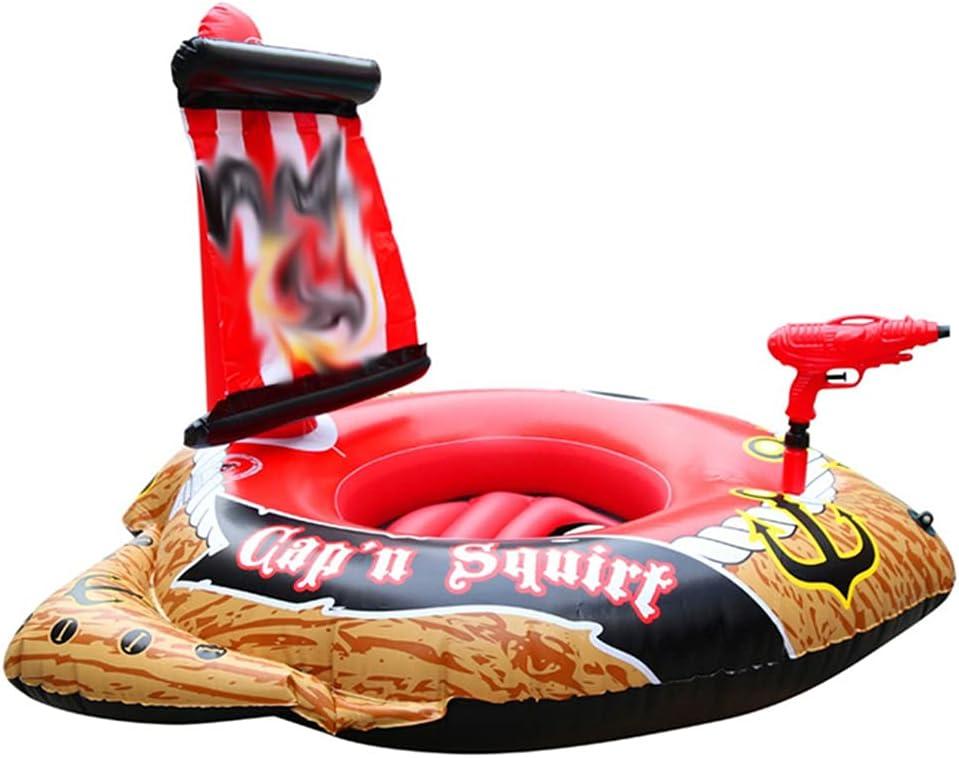 Juguete De Barco Pirata Inflable para Tanque De Piscina con Pistola Rociadora Y Bomba Juguete Gigante De Agua Al Aire Libre para Niños Adecuado para Lagos Y Emocionantes Suministros De Juego,002