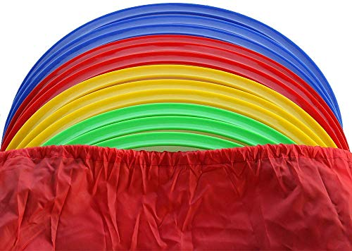 Boje Sport Set di 12 Cerchi/Anelli da Ginnastica, Sezione Piatta, Ø ca. 45 cm, Tre per Colore