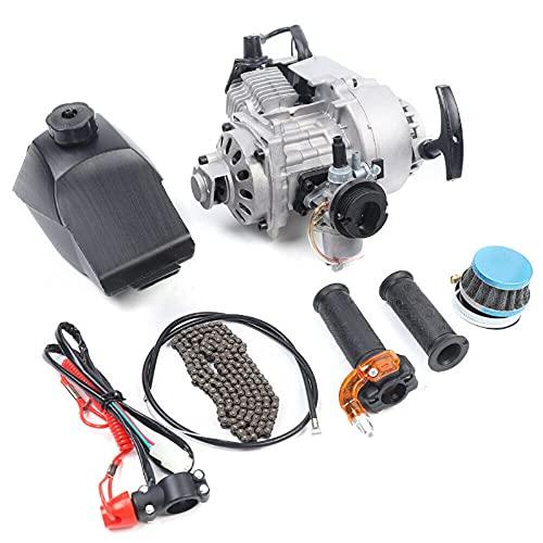 49CC 2-Stroke Engine Motor Kit, Mini Pull Start Engine for Pocket Bike Mini Dirt Bike Atv Or Scooter