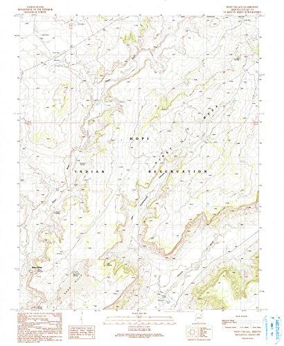 YellowMaps Wepo Village AZ topo map, 1:24000 Scale, 7.5 X 7.5 Minute, Historical, 1990, Updated 1991, 26.8 x 22 in - Polypropylene