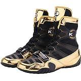 QZF Lucha Zapatos de Boxeo Zapatos del Top del Alto de Boxeo con Transpirable Antideslizante Suela de Goma Durabilidad Fit Suela de Goma Zapatos de Entrenamiento de Combate para Gimnasia Cuarto,43cm