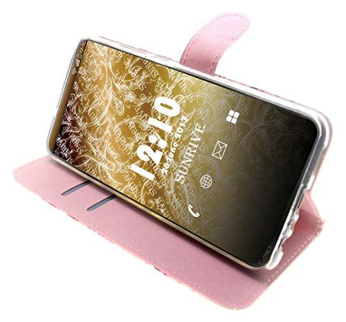Sunrive Hülle Für Huawei Y5 (Y560), Magnetisch Schaltfläche Ledertasche Schutzhülle Etui Leder Case Cover Handyhülle Tasche Schalen Lederhülle(Baum Katze) - 4