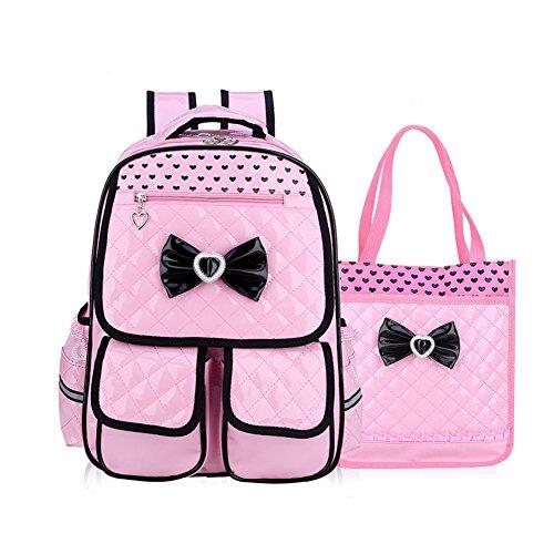 SAND-H Kid bambino Schoolbag cute Girls Princess Style zaino Zaino borsa da viaggio impermeabile comodo e traspirante (pink)
