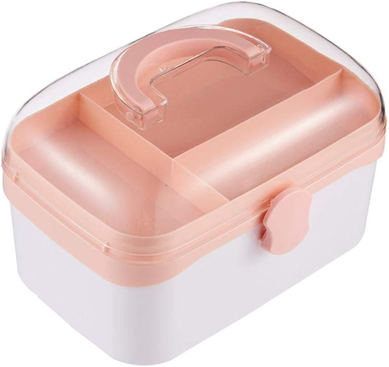 Mzl Creative Multifunctional Transparent Storage Box Medicine Box Portable Household Powder, bluee, Green (15  16  24.5cm)