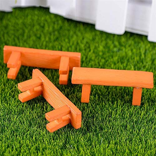 SANHOC - Juego de 3 sillas de hadas de resina para decoración de jardín en miniatura de terrario, decoración de bonsái, estilo 003