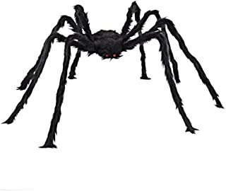 4.9ft Halloween Long Plush Spider Realistic Scary Hairy Spiders Props for Indoor, Outdoor and Yard Creepy Decoration(1.5M)