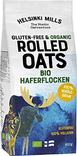 Helsinki Mills. Glutenfreie Haferflocken für Haferbrei, Müsli, Overnight Oats und zum Backen. 6x400g. (6)