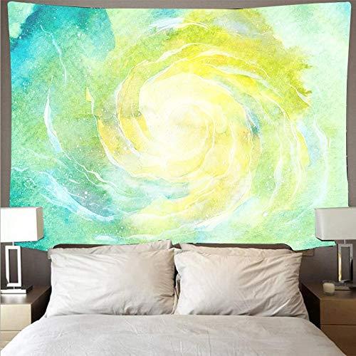 KHKJ Tela de Pared Pintada de Colores de fantasía, Tapiz de Arte psicodélico para Colgar en la Pared, Toalla de Playa, Manta Fina A2 150x130cm