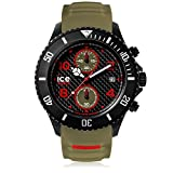 Ice-Watch - Ice Carbon Black Khaki - Montre Verte pour Homme avec Bracelet en...