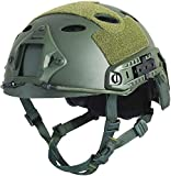LOOGU Airsoft Helm Fast PJ Taktischer Helm Ops Core Schutzhelm mit Pads Sturzhelm für Freizeit...