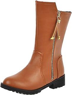 FANIMILA Women Classic Autumn Boots Flat Heels Zipper