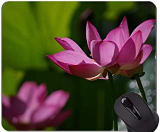 Lotus Flowers Serenity Mouse Pad Personalized - Fresh Non-Slip Rubber Base Mousepad