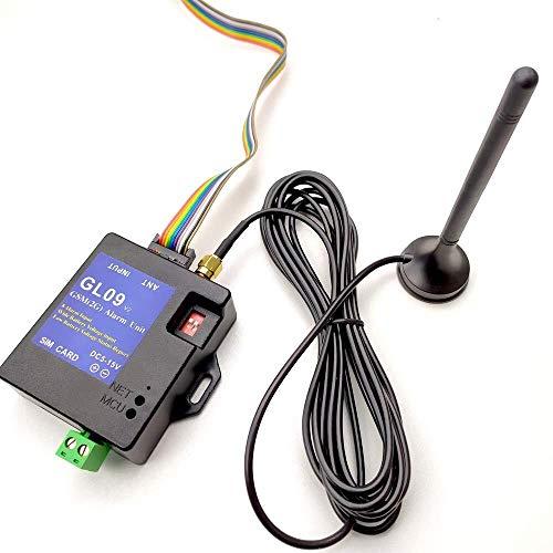 CLJ-LJ Caja de Alarma, GL09 Inteligente de bajo Consumo Compatible Ocho Entradas de Alarma de Ahorro de energía DC5V Trabajo SMS de Alerta del Sistema de Alarma portátil Inicio Módulo Ajuste for el
