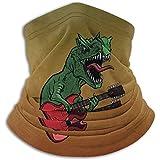 ENZOOIHUI Dinosaures Guitare Électrique Hommes Femmes Hiver Graphique Cache-Cou Bandana Bonnet pour Sports Moto Pêche