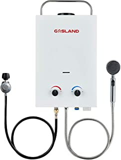 Tankless Water Heater, Gasland BS158 1.58GPM 6L Outdoor Portable Gas Water Heater, Instant Propane Water Heater, Overheating Protection, Easy to Install for RV Cabin Barn Camping Boat