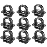 SUZCO 9 Points Truck Bed Stake Pockets Tie-Down Anchors Set Side Wall Cargo Anchor Fits 07-21 Chevy Silverado I 07-21 GMC Sierra I 07-21 Chevy Colorado I 07-21 GMC Canyon - 1,000 lbs