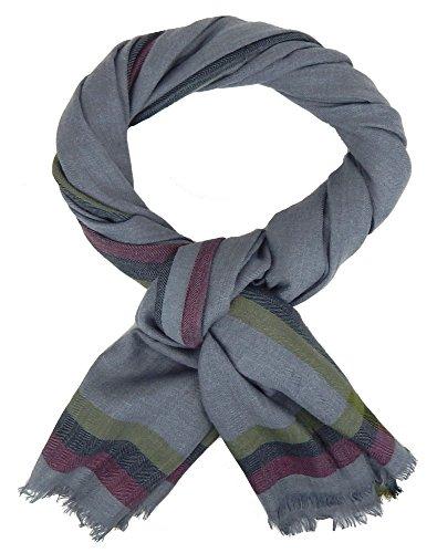 Ella Jonte Écharpes foulard d'homme hiver élégant et tendance de la dernière collection by Classic-Line gris uni coton