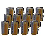 12 X Batteria Pila SC 2000mAh 2.0Ah Ni-Cd 1,2V con lamelle a saldare per pacchi batterie t...
