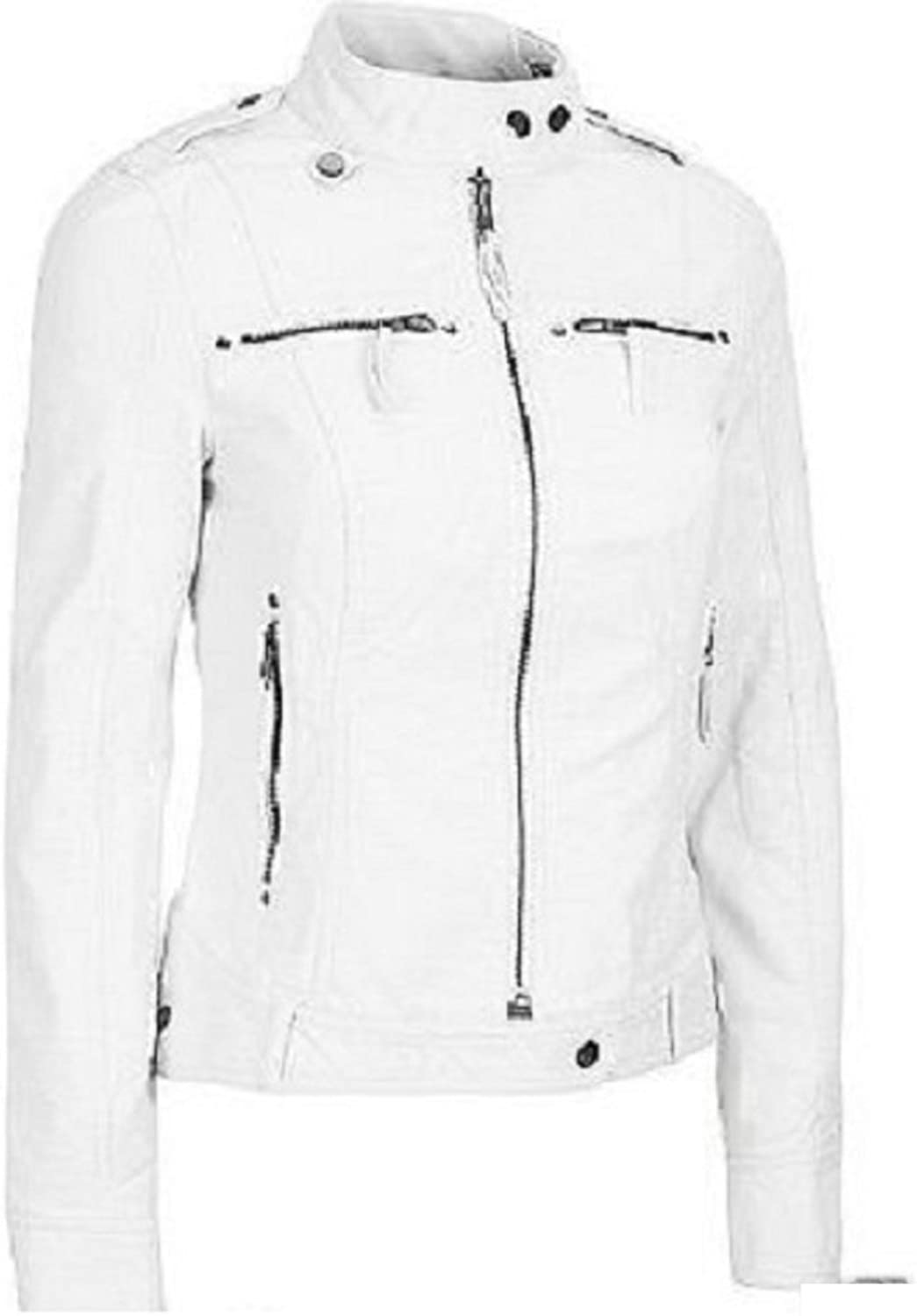 New Womens Motorcycle Genuine Sheep Leather Party Jacket LFW266