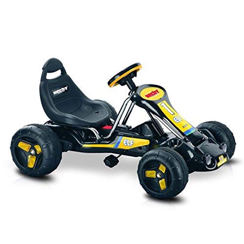 Hecht Go Kart 59789 Tretauto Go-Kart für Kinder (Farbe wählbar) (Schwarz / Gelb)