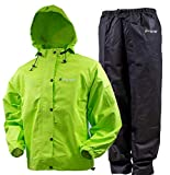FROGG TOGGS Men's Standard Classic All-Sport Waterproof Breathable Rain Suit, Hi-Vis Lime...