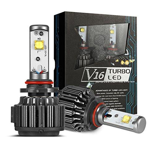 MERUI H4 Ampoules Phares LED, 4800LM Lampe Ampoule pour Kits de Phares pour Voitures, 40W Conversion de Rechange Auto Eclairage Feu Lumière pour Voiture Véhicule Automobile